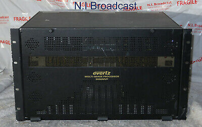 Evertz mvp3000 32channel multiveiwer with SDI and ppmx16-4g output boards