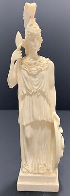 "Vintage 10"" ATHENA White Alabaster Greek God Figure Made In Greece RARE"