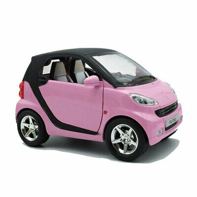 Benz Smart ForTwo 1:24 Model Car Toy Vehicle Diecast Sound Light Kids Gift Pink