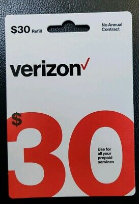 VERIZON $30 REFILL used for All PREPAID SERVICE FAST EMAIL DELIVERY
