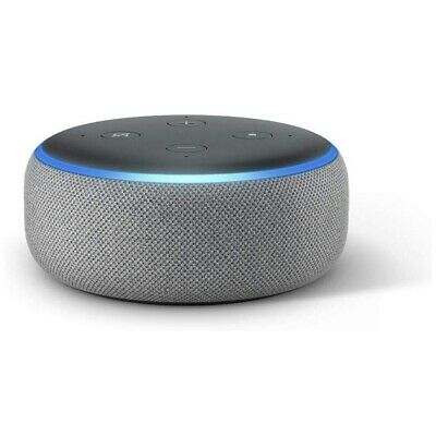 NEW Amazon Echo Dot 3rd Generation Smart Speaker w/ Alexa Voice - Heather Gray