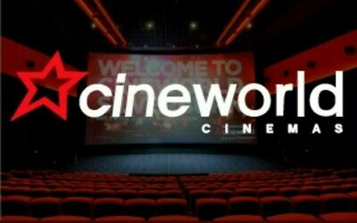 1 x CINEWORLD Cinema tickets to a 2D film - SUNDAY ONLY - quick delivery