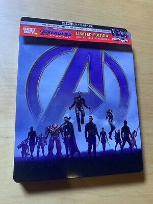 The Avenger Endgame 4k Blu Ray SteelBook NO CODE Mint Best Buy Exclusive