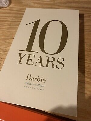 10 Years of Barbie Fashion Model Collection BFMC Silkstone Book w/Sleeve