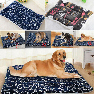 Warm Cat Dog Pet Mat Soft Fleece Blanket Bed Cushion Soft Cushion Sleeping Pad
