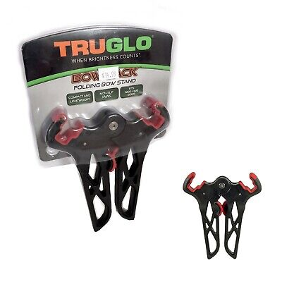 New TruGlo Bow Jack Folding Compound Bow Stand Black//Red Model# TG395BR