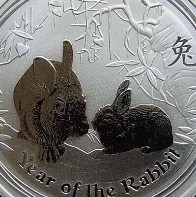 2011 Lunar Year of the Rabbit 1oz Pure .9999 Silver Coin very rare