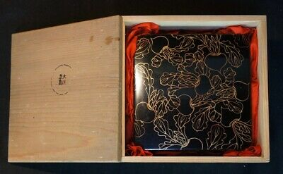 Antique Jyubako Japanese lacquered food box 1900's Japan craft