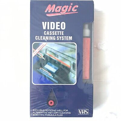 VIDEO CASSETTE Cleaning System VHS Magic Non-Abrasive