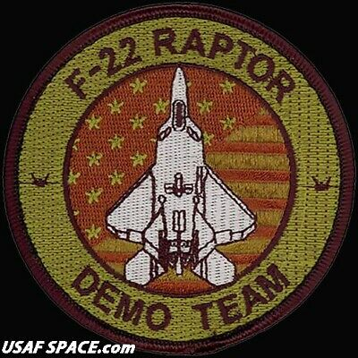 USAF 1st FIGHTER WING -F-22 DEMONSTRATION TEAM- Langley AFB - ORIGINAL OCP PATCH