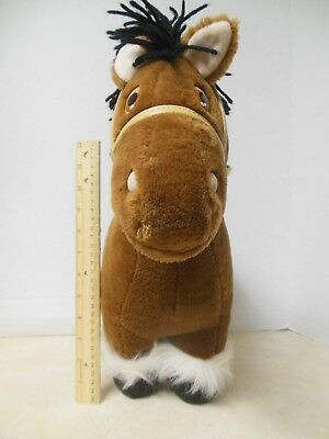 """Big Vintage 1984 Cabbage Patch Kids CPK Plush Brown Horse 16"""" Tall Pet Coleco"""