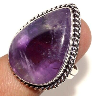 E7764 Amethyst Lace 925 Sterling Silver Plated Ring Us 9