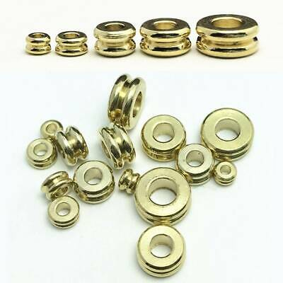 3mm 4mm 5mm 6mm 7mm Solid Brass Flat Round Gold Loose Metal Spacer Beads lots