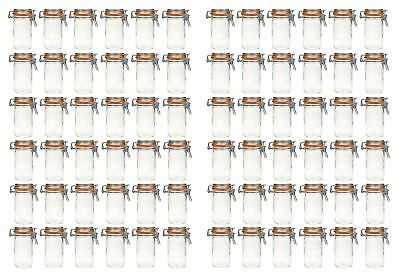 72x Wire Clip Glass 250ml Einmachglas Preserving Jars Storage Jars Clamp Lock