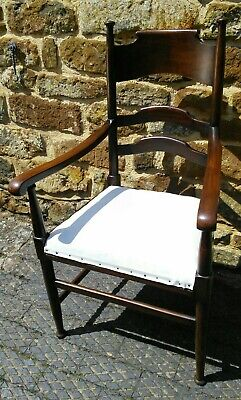 William Birch arts and crafts Liberty's armchair desk chair