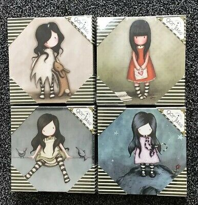 Santoro Gorjuss Set Of Four Canvas Art Size 20 Cm Sq New In Original Packaging