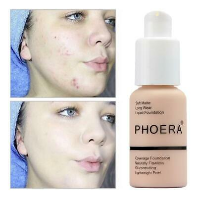 PHOERA Soft Matte Full Coverage Liquid Foundation Concealer Longlasting ON