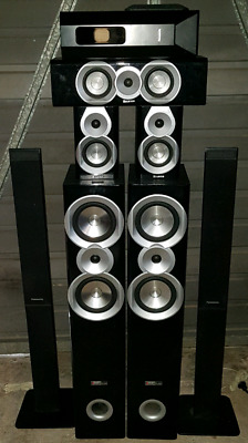 Yamaha 5.1 amp & Kevlar (Germany) speaker combo with remote. Home theatre system