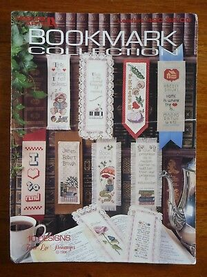 Leisure Arts Cross Stitch Pattern Leaflet #420  - Bookmark Collection