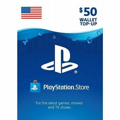 PSN $50 USD Code Sony US Playstation 4 - Network PS4 PS3