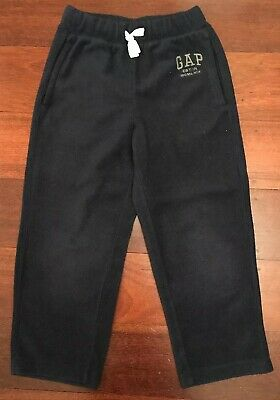Gap Kids Boys Navy Blue Polar Fleece Track Pants  - Size S (6/7) Great Con