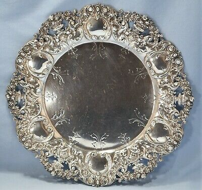 Dominick & Haff Sterling Silver Large Reticulated Dinner Plate Hardy & Hayes Co.