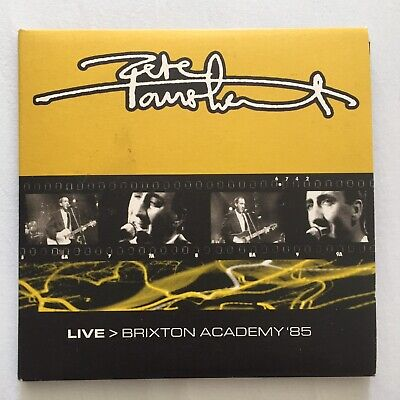 Pete Townshend - Live Brixton Academy 1985. Double Cd. Eel Pie The Who