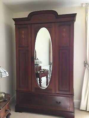 A lovely late victorian antique mahogany wardrobe