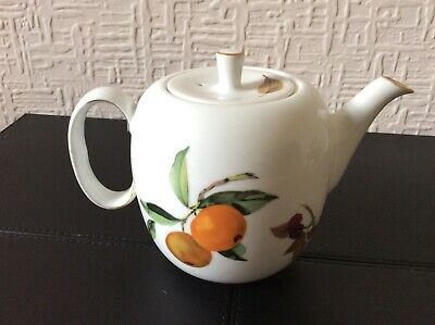 ROYAL WORCESTER EVESHAM GOLD TEAPOT with LID