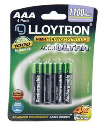 Lloytron AAA 1100mAh NIMH AccuUltra Battery Pack of 4