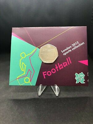 2011 Carded Olympic Football UK 50p Fifty Pence Brilliant Uncirculated