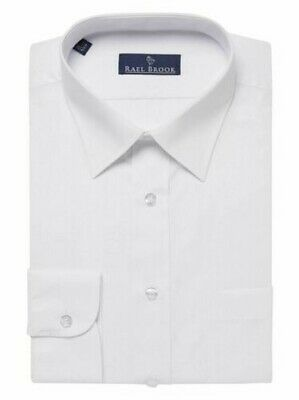 Rael Brook Mens Formal Long Sleeved Shirt in White