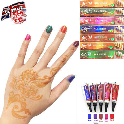 100% Natural Plant Nail Henna Paste 5g Indian Import Paste Temporary Henna Cone