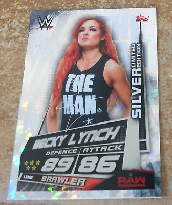 Topps Slam Attax Universe 2019 Becky Lynch Silver Limited Edition
