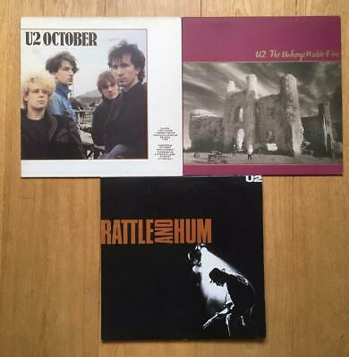 U2 - 3x Vinyl LP OCTOBER / UNFORGETTABLE FIRE / RATTLE AND HUM (2LP)   best