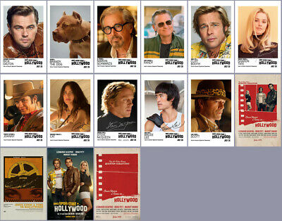 15 Once Upon a Time in Hollywood 2019 Promo Card PVC Charactor Transparent Card