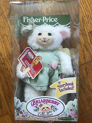 Berrysue Fisher Price Briarberry Collection 1999 Lamb Plush Toy With Book Rare
