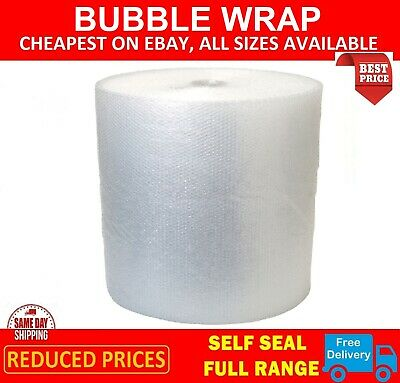 750mm x 50m ROLL SMALL BUBBLE WRAP 50 METRES Uk Cheaper Packeroo Eco Bubble Wrap