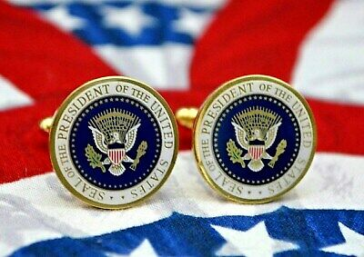 Obama Presidential Seal Cufflinks~Full Color Presidential Seal Series~Signed~New