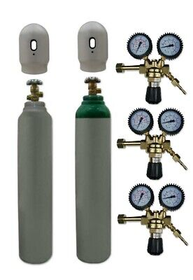 Nitrogen N Full Gas Bottle Cylinder 1.8m3 8L 180 MIG TIG Welding + Gas Regulator