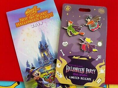 Disney 2019 MNSSHP Mickey's Not So Scary Halloween Party Hocus Pocus Pin Set