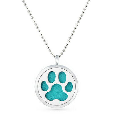 Aroma Pendant Paw Essential Oil Diffuser Necklace Fragrance Lockets No Chain