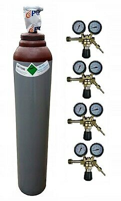 Helium Gas 4.0 FULL Bottle Cylinder 8L 150B MIG TIG Welding Welder Gas Regulator