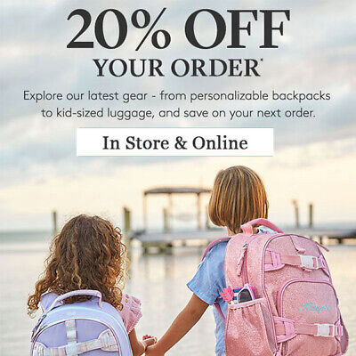 20% off POTTERY BARN KIDS coupon code online/in stores Exp 8/31/19