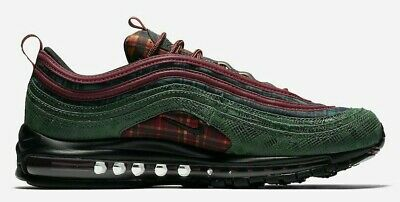 """Men Nike Air Max 97 NRG """"Jacket Pack"""" Team Red Midnight Spruce AT6145-600 Size 4"""