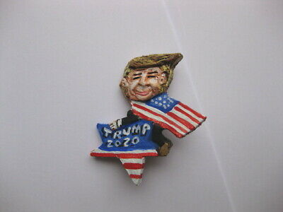 President Donald Trump Flag & Star 2020 Presidential Campaign Novelty Pin