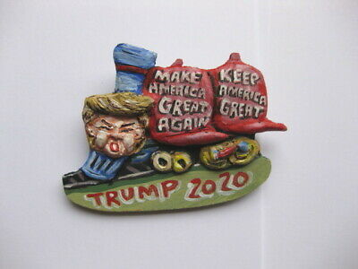 "President Donald Trump ""MAGA Hats Train"" 2020 Campaign Novelty Pin"