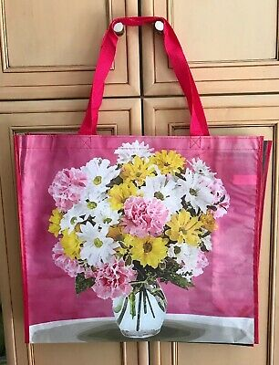 TJ Maxx Bee Happy Sunflowers Sky Reusable Shopping Bag Tote Eco-Friendly Green