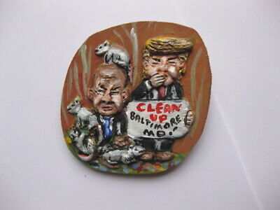 President Donald Trump Vs Elijah Cummings Novelty Political Pin