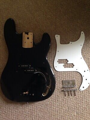 ELECTRIC BASS GUITAR BODY WITH PICKGUARD,PICK UPS,CHROMEWARE please read